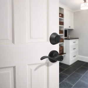 Entry Keyed Door Levers Lock with Double Cylinder Deadbolts Keyed Alike, Oil Rubbed Bronze Finish DL12061ET-102ORB
