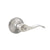 Privacy Door Lever set Brushed Nickel Finish with Wave Handle Style DL12061SNBK