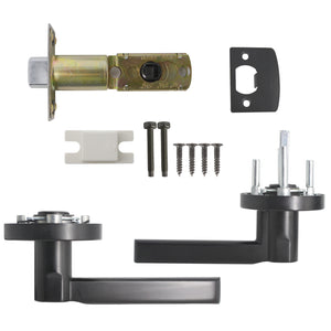 Heavy Duty Door Handles Black Finish Entry Keyed Alike/Privacy/Passage Door Lock Levers - DL1637BK