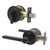 Keyed Entry Door Lever Lock and Single Cylinder Deadbolts Combo Pack (Keyed Alike), Black Finish DL1637ET-101BK