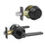 Keyed Entry Door Lever Lock and Double Cylinder Deadbolts Combo Pack (Keyed Alike), Black Finish DL1637ET-102BK
