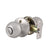 Single Connect Rod Round Ball Knobs Entrance/Privacy/Passage/Dummy Door Lock Knob, Satin Nickel Finish DL5763SN