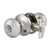 Single Connect Rod Flat Ball Knobs Keyed Alike/Privacy/Passage/Dummy Door Lock Knob, Satin Nickel Finish DL5766SN