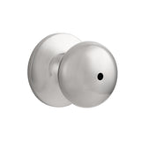 probrico door lock brushed nickel finish round knob handle set