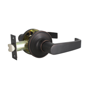 Scroll Wave Style Door Handles Oil Rubbed Bronze Finish Privacy/Passage Function Door Lever Lock - DL850AORB