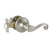 satin nickel door levers passage function