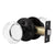 Round Glass Crystal Door Knobs with Black Rosette, Privacy/Passage/Dummy Function DLC10BO
