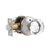 Diamond Crystal Glass Door Knobs with Satin Nickel Round Rosette, Privacy/Passage Door Lock DLC10SN