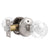 Crystal Glass Door Knobs in Round Ball Style, Passage/Privacy Knob, Satin Nickel Finish DLC23BOSN