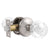 Crystal Glass Door Knobs in Round Ball Style, Passage/Privacy Knob, Satin Nickel Finish DLC23SN