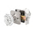 Octagon Crystal Door Knobs with Satin Nickel Rectangle Rosette DLC5SN Privacy/Passage Door Lock