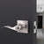 Wave Style Door Handles with Square Rosette, Entry Keyed/Privacy Lock/Passage/Dummy Lever Brushed Nickel Finish DLSQ061SN