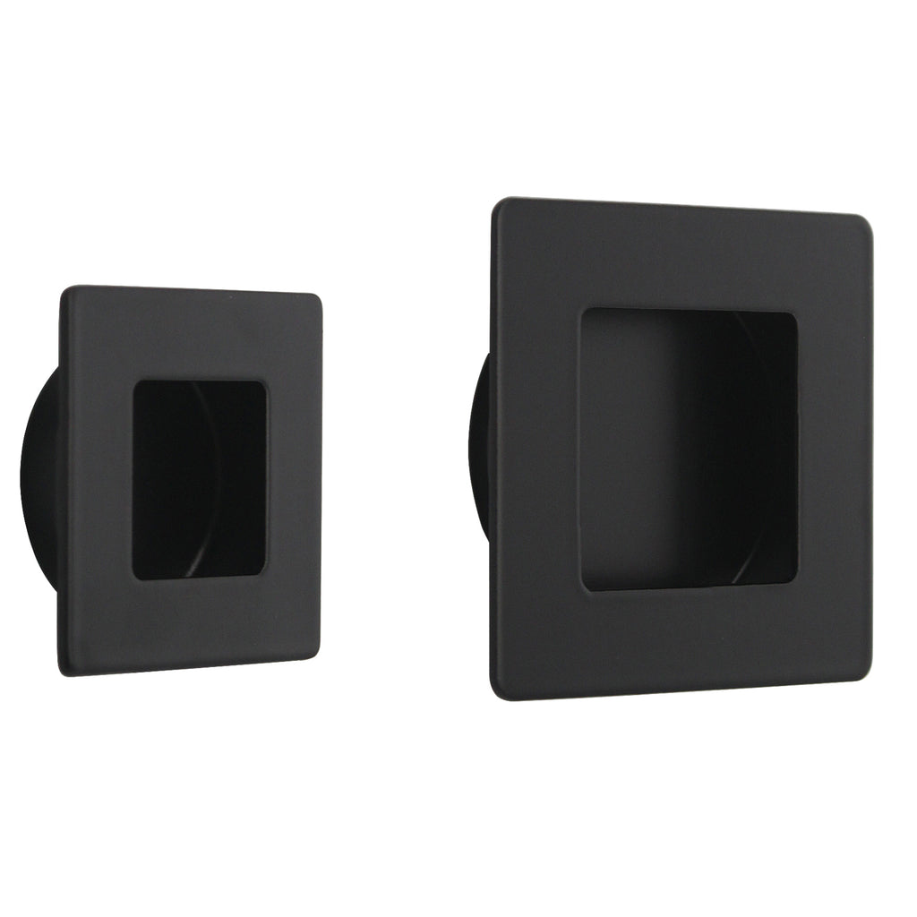 Furniture recessed handles and knobs square 50mm 70mm for 70mm cabinet pulls