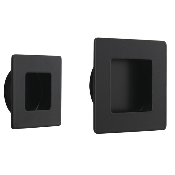 Furniture Recessed Handles And Knobs Square 50mm/70mm Flush Pull Black Finish Pocket Door Handles