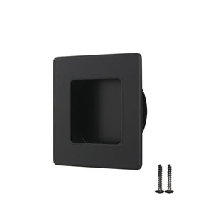 50mm/70mm Square Pocket Door Handles Flush Pull Black Finish - Probrico