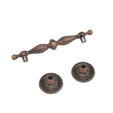Vintage Style Drawer Handles Pulls 90mm 3 1/2inch Hole Centers Antique Bronze/Copper Finish PD2227