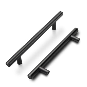 "Modern T Bar Black Kitchen Cupboard Handles Cabinet Hardware Drawer Pulls 2""-10""  PD3383HBK"