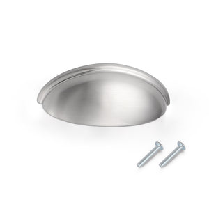 Satin Nickel Cup Pulls 76mm 3inch Hole Centers, Kitchen Cabinets Hardware PD82981
