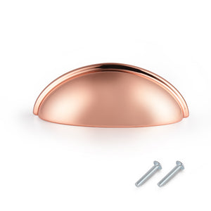"3"" 76mm Hole Centers Cup/Bin Pulls Multipack PD82981SF, Rose Gold Finish Hardware"