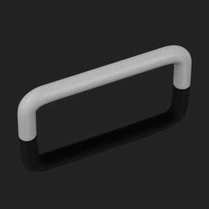 Silver/White/Black Finish Plastic D Bar Handles Kitchen Cabinet Pulls 96mm Hole Centers PDP4001