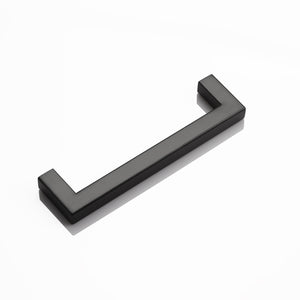 "(5pack) 1/2"" Square Cabinet Handles Black Finish 128mm 5inch Hole Centers PDDJS12HBK128"
