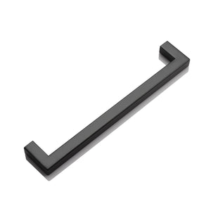 Black Cabinet Handles and Knobs Modern Square Bar Drawer Pull 2-12inch Hole Centers PDDJS12HBK