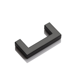 "1/2"" Square Bar Cabinet Handle Pulls Black Kitchen Hardware Drawer Pull and Knobs 2-12"" PDDJS12HBK"