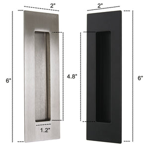 "Stainless Steel 6"" Rectangle Sliding/Flush Door Pull Handle - Probrico"