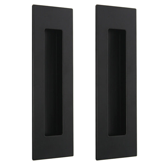 2PACK- Rectangular Sliding Door Pulls 6 inch Length, Black Finish - Probrico