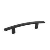 Curved Subtle Arch Cabinet Handles 3inch 76mm Hole Centers Black Finish PD81670BK76
