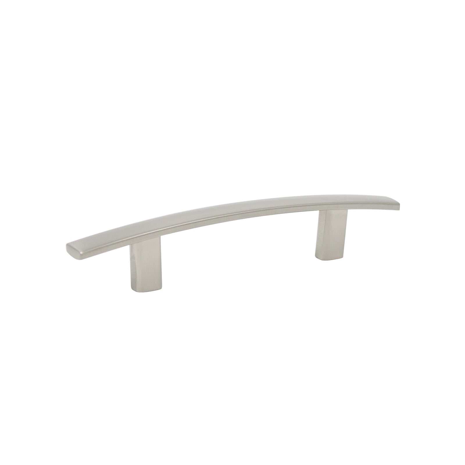 Satin Nickel Finish Cabinet Handles Curved Subtle Arch Style 3inch 76m Probrico