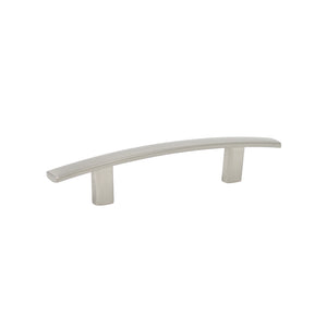 Satin Nickel Finish Cabinet Handles Curved Subtle Arch Style 3inch 76mm Hole Centers PD81670BSN76