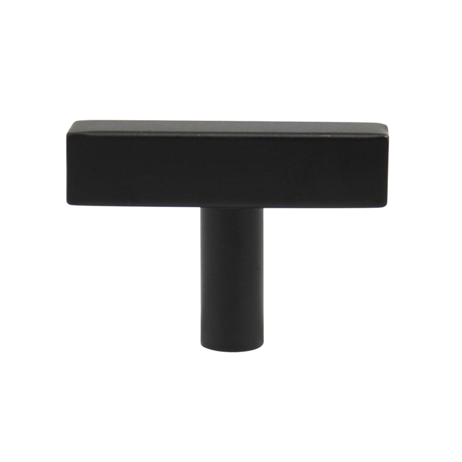 "2"" 50mm Length Square T Bar Cabinet Knobs Black Finish - 10Pack - Probrico"