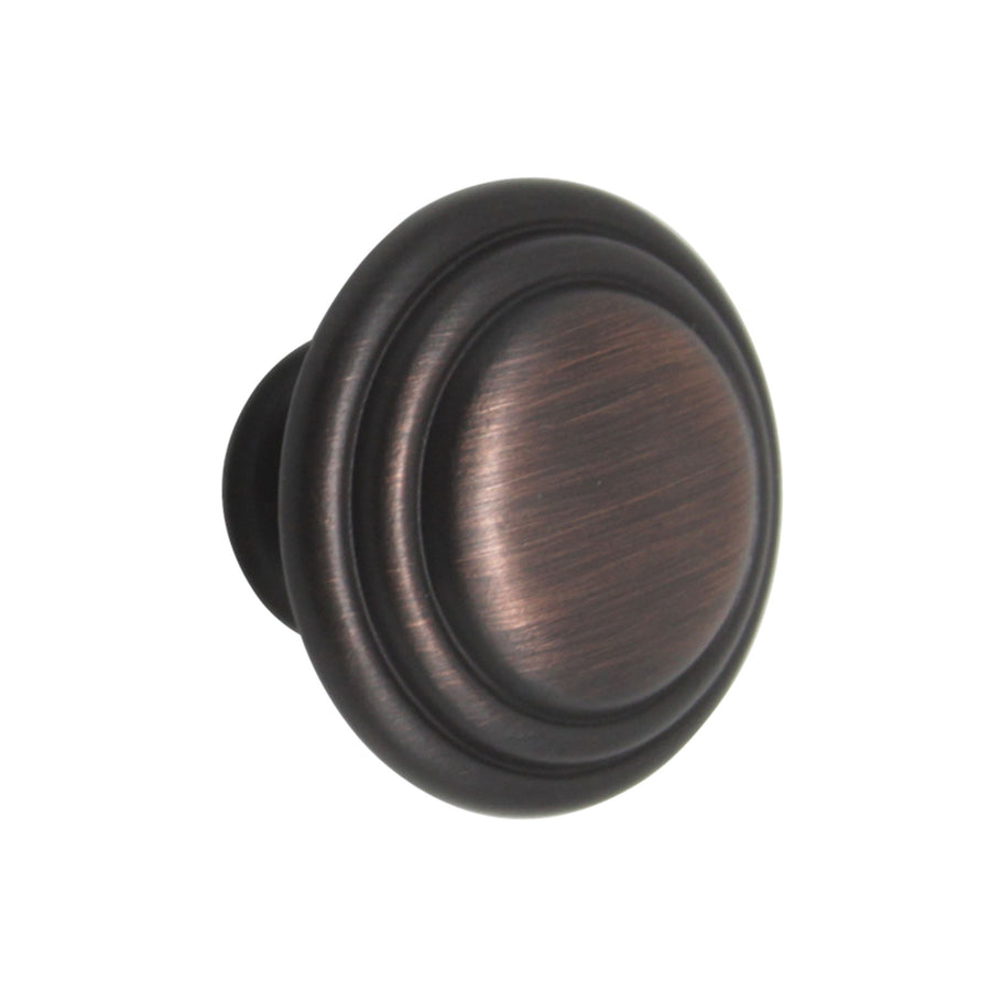 Mushroom Cabinet Knobs  1 1/3 inch Diameter Oil Rubbed Bronze Finish - Probrico