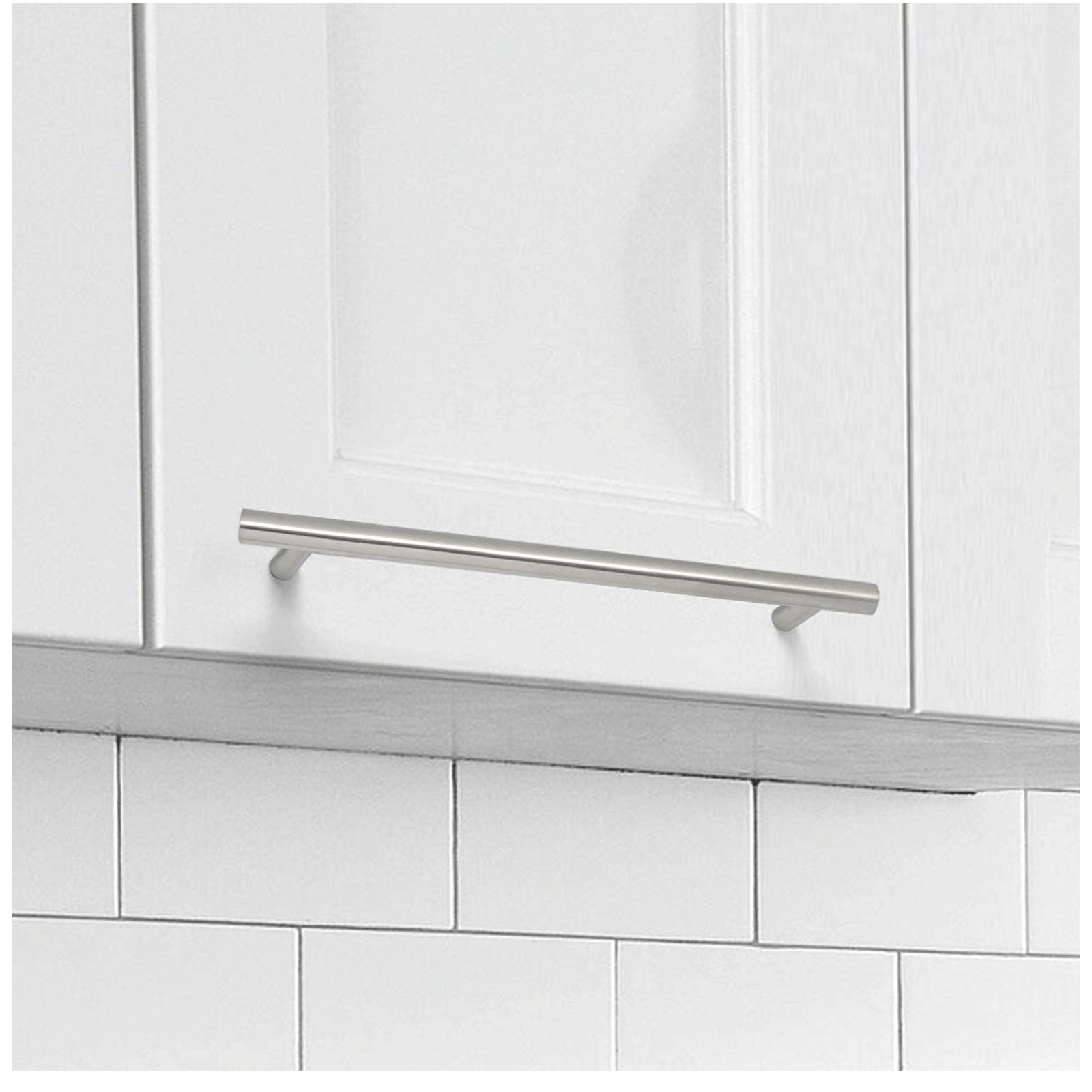 5Pack Euro T Bar Pulls for Cabinets, Brushed Stainless ...