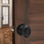 Closet and Hall Passage Door Lock Knob, Oil Rubbed Bronze Finish, Egg Ball Style - Probrico