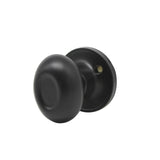 Closet and Hallway Passage Door Knob Lock Black Finish, Egg Ball Style DL692BKPS