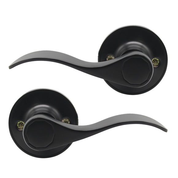 Single Dummy Door Levers Black Finish, Left or Right Handed Door Handles - Probrico