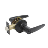 Keyed Entry Door Levers Lockset with Same Key, Leaf Style, Black Finish - Probrico