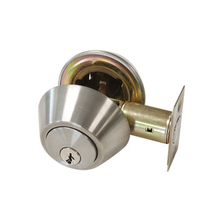 Satin Nickel Finish Double Cylinder Deadbolt Lock - Keyed Alike