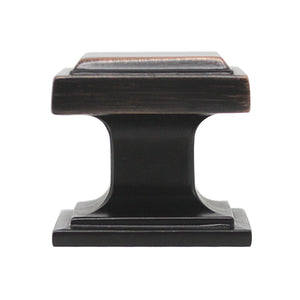 25mm 1inch Square Cabinet Knobs in Oil Rubbed Bronze / Black PS7110
