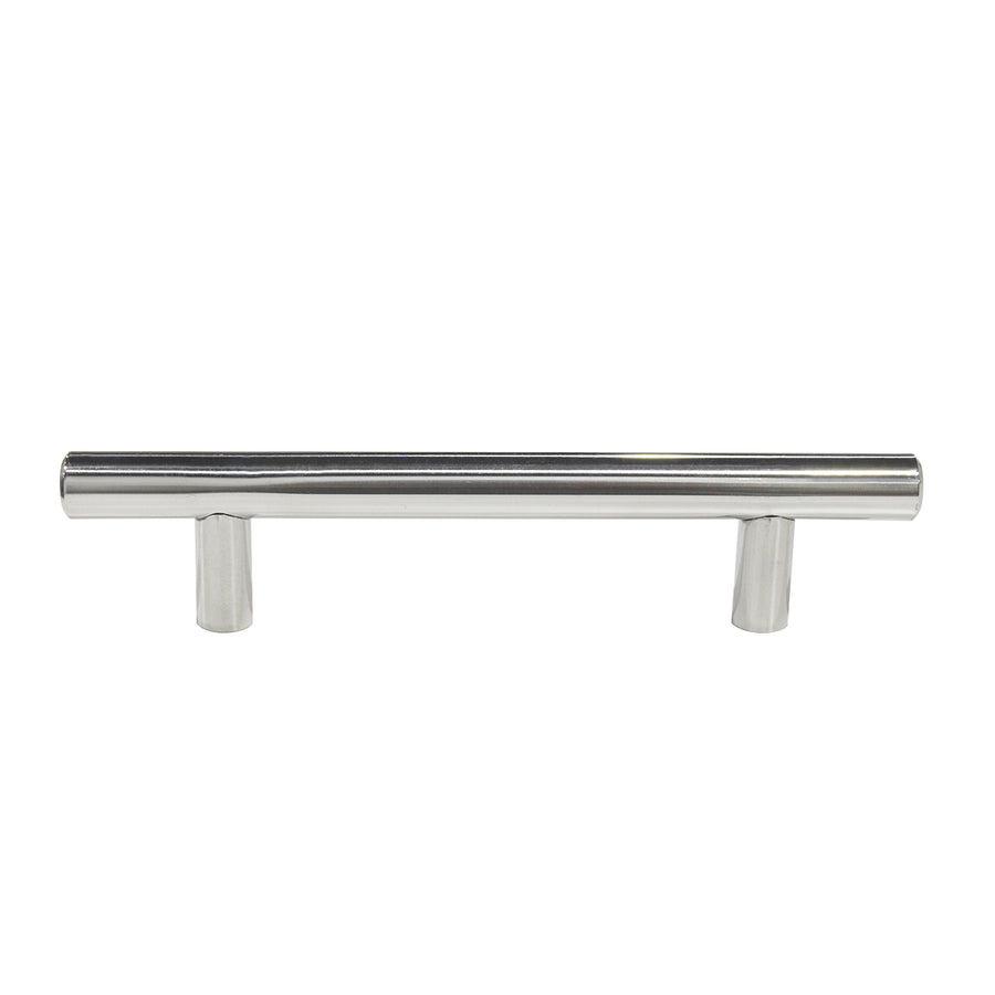 Polished Chrome Cabinet Pulls 3 3/4 inch 96mm Hole Centers T Bar Handles 6 inch 150mm Length