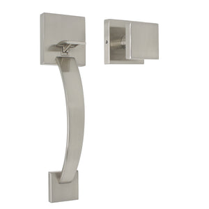 Satin Nickel Entry Front Door Handlesets with Dummy Door Handle - Probrico