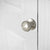 Round Door Knob Satin Nickel Finish Single Dummy Door Knob DL5766SNDM