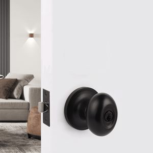 Egg Ball Style Door Knob Lock DL692ORB, Interior Privacy/Entry Keyed Locks Oil Rubbed Bronze Finish