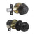 Flat Ball Door Knob Lock with Double Cylinder Deadbolt Keyed Entry Door Lockset Keyed Alike, Oil Rubbed Bronze Finish - DL609ET-102ORB