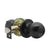 Black Door Knobs Lock with Same Key, Keyed Alike Door Lockset DL607BK