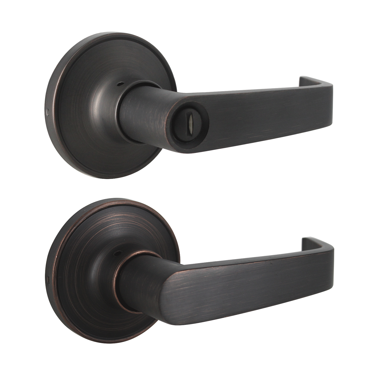 Picture of: Scroll Wave Style Door Handles Oil Rubbed Bronze Finish Privacy Passag Probrico