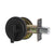 Single Cylinder Deadbolt Lock with Same Key, Oil Rubbed Bronze/Satin Nickel Keyed Door Lock DLD101