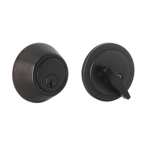 Oil Rubbed Bronze Finish Single Cylinder Deadbolt Lock - Keyed Alike DLD101ORBDB